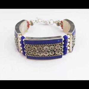 Jewelry - Lapis bracelet . Made in Nepal